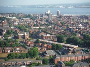 View from the top of the Liverpool Cathedral